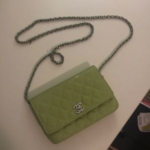 Vintage Chanel Lime green